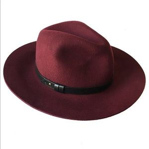 Tart Indy Fedora Hat o/s In Wine NWT